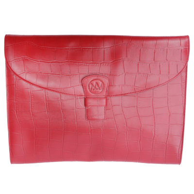 Porte-documents Mya croco rouge