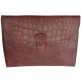 Porte-documents Mya croco marron
